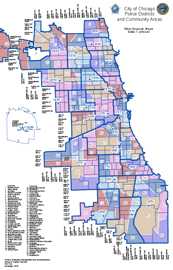 Similiar Map Of Chicago Police District Boundaries Keywords