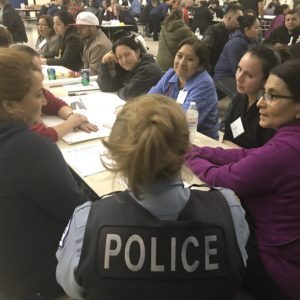Police meeting with community members